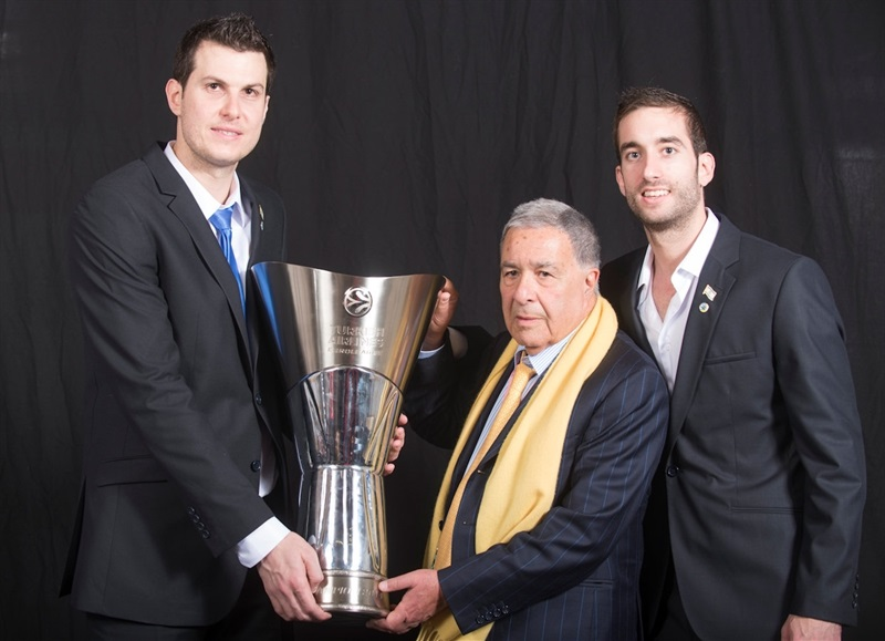 Guy Pnini, Shimon Mizrahi and Yogev Ohayon - Maccabi Electra Trophy Photo Shoot - Final Four Milan 2014