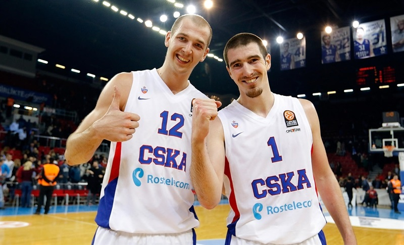 Pavel Korobkov and Nando De Colo celebrates - CSKA Moscow - EB14