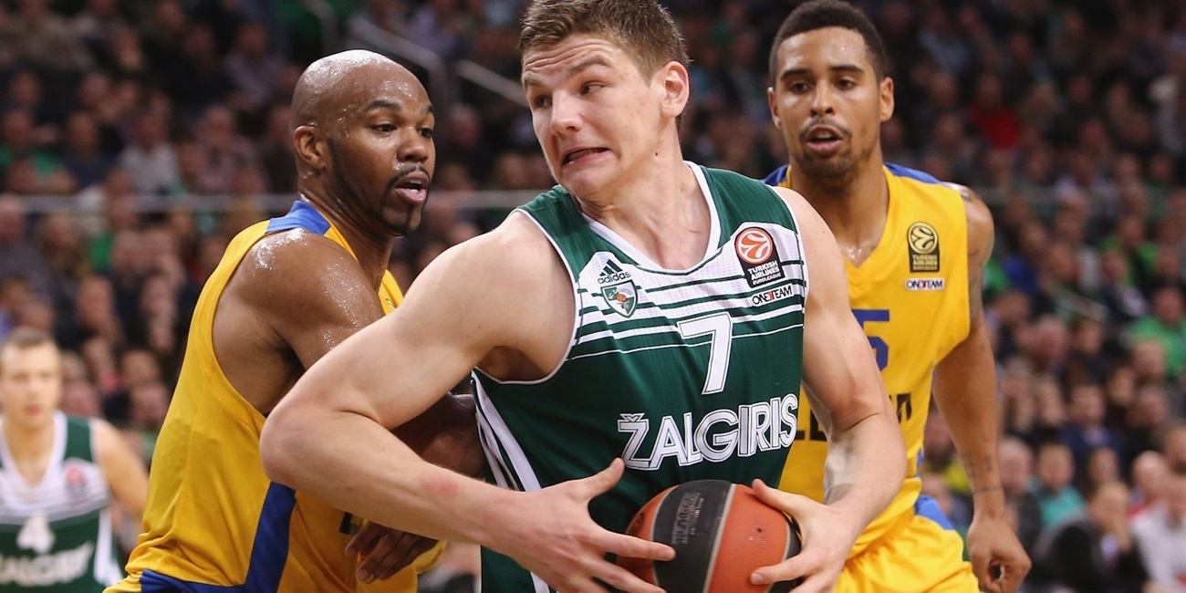Zalgiris's Gudaitis sidelined due to ankle sprain