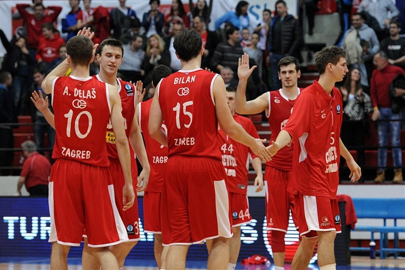 Cedevita Zagreb celebrates - EC14 (photo Cedevita)