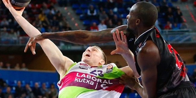 Laboral Kutxa guard Hansbrough out with sprained ankle