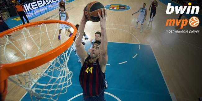 Top 16, Round 5 bwin MVP: Ante Tomic, FC Barcelona