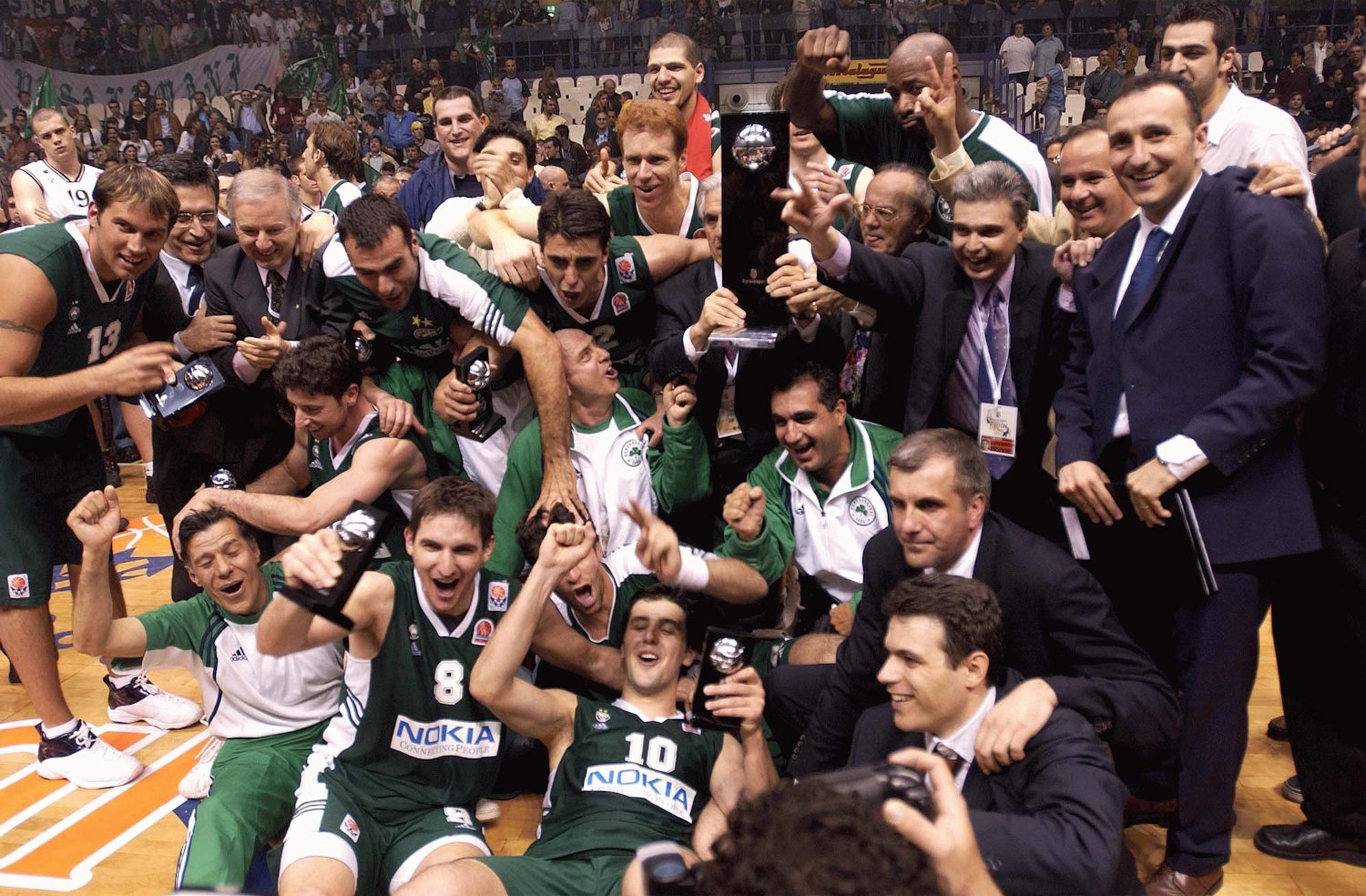 Panathinaikos Athens champ Final Four Bologna 2002 - EB01