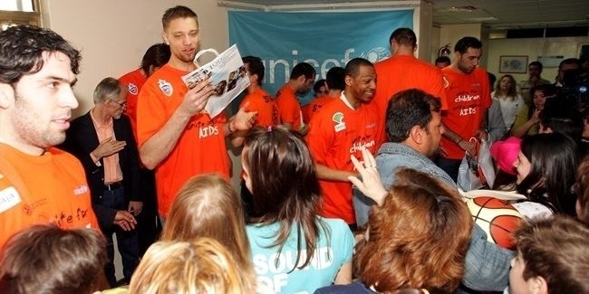Euroleague stars tip off Final Four with hospital visit for UNICEF
