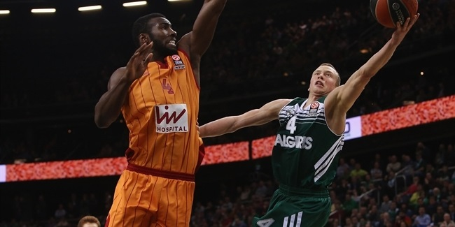 Top 16 Round 8 report: Zalgiris Kaunas routs Galatasaray