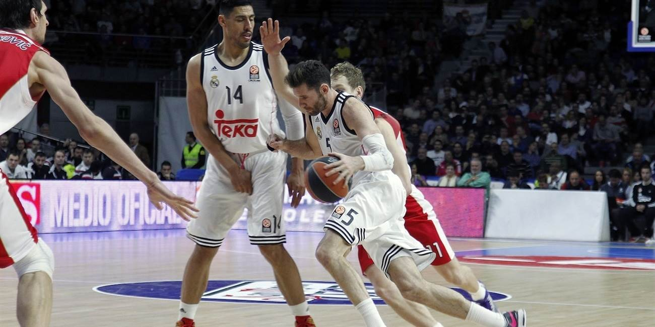 Top 16 Round 8 report:  Carroll, Fernandez lead Real Madrid past Crvena Zvezda