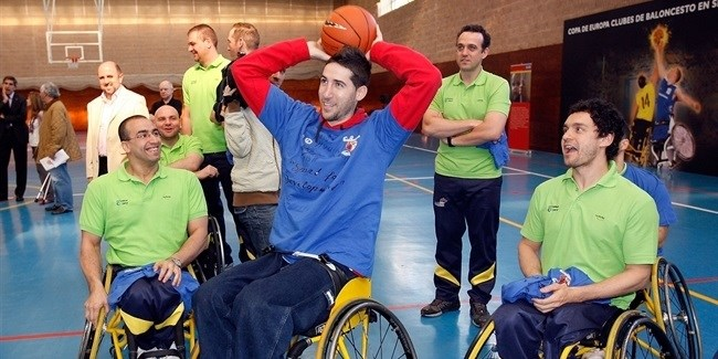 Euroleague players meet with elite of wheelchair basketball