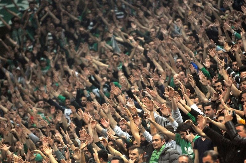 Fans in Olympic Sports Center Athens- Panathinaikos Athens - EB14