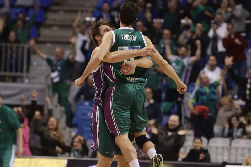 Ryan Toolson celebrates - Unicaja Malaga - EB14
