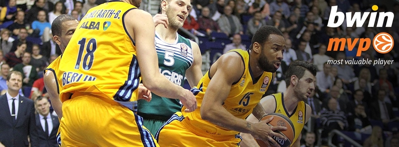 Top 16 Round 9 bwin MVP: Reggie Redding, ALBA Berlin