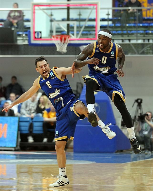 Tyrese Rice celebrates - Khimki Moscow Region - EC14 (photo Khimki - Nikolay Kondakov)