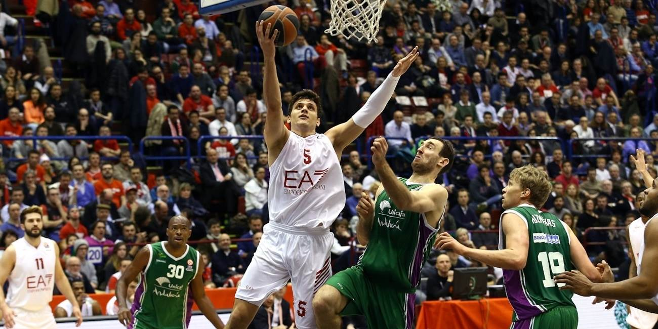 Top 16 Round 10 report: Milan outlasts Unicaja 90-86 to rejoin playoff race