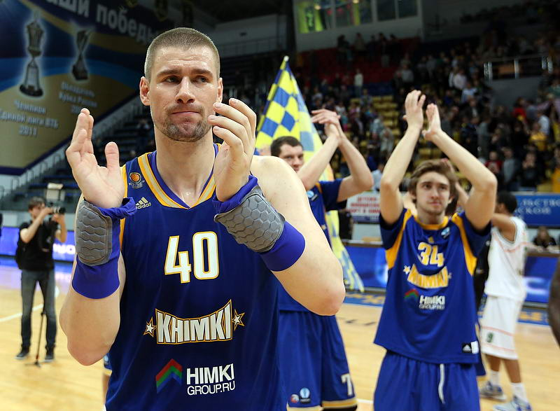 Paul Davis celebrates - Khimki Moscow Region - EC14 (photo Khimki - Nikolay Kondakov)