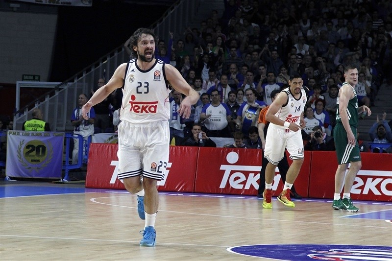 Sergio Llull celebrates - Real Madrid - EB14