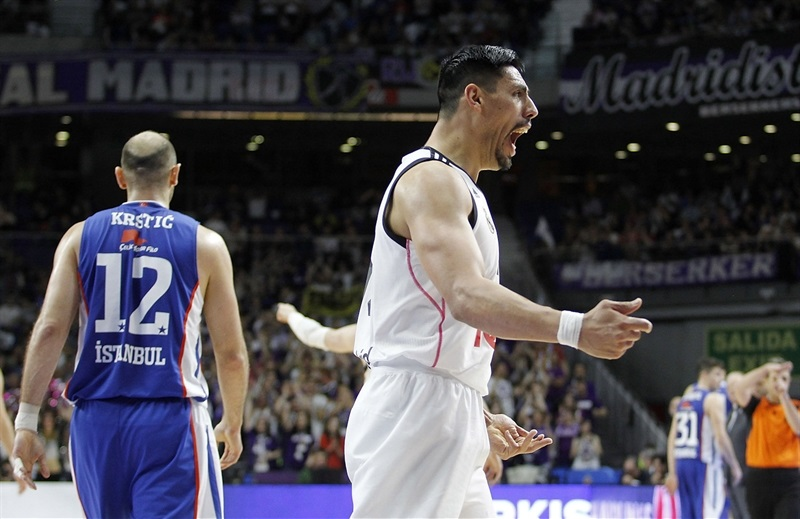 Gustavo Ayon celebrates - Real Madrid - EB14