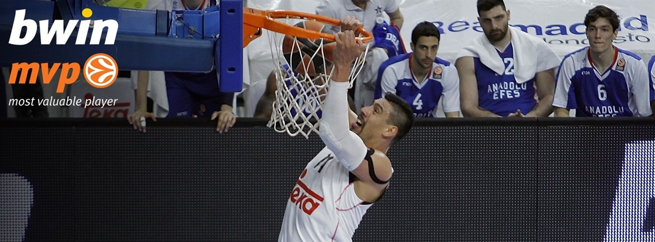 Playoffs Game 1 bwin MVP: Gustavo Ayon, Real Madrid