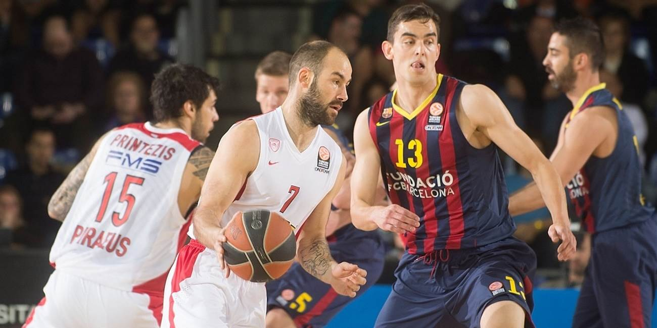 Playoffs Game 2 report: Olympiacos claims key road win at Barcelona