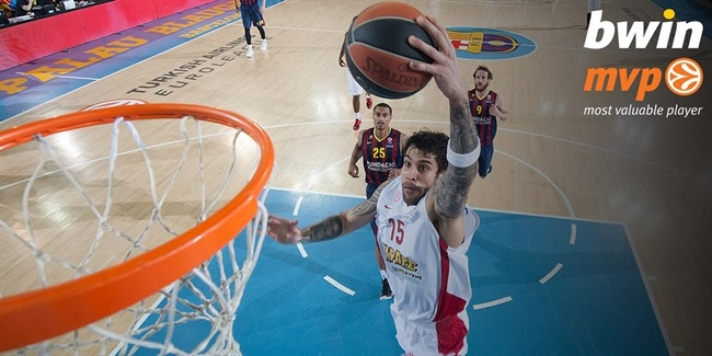 bwin MVP for April: Georgios Printezis, Olympiacos Piraeus