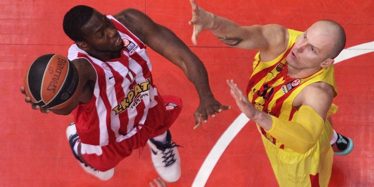 Playoffs Game 3 report: Olympiacos holds off Barcelona to take control of series