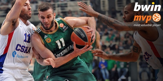 Playoffs Game 3 bwin MVP: Nikos Pappas, Panathinaikos Athens