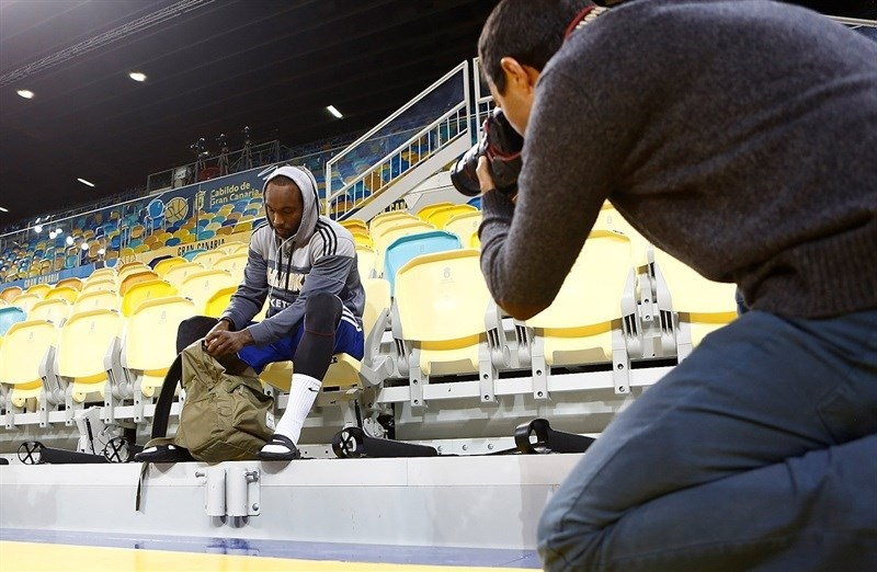 Tyrese Rice - Khimki Moscow Region - Media Day Finals 2015 in Las Palmas - EC14