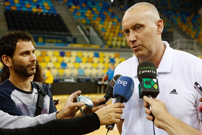 Rimas Kurtinaitis - Khimki Moscow Region - Media Day Finals 2015 in Las Palmas - EC14