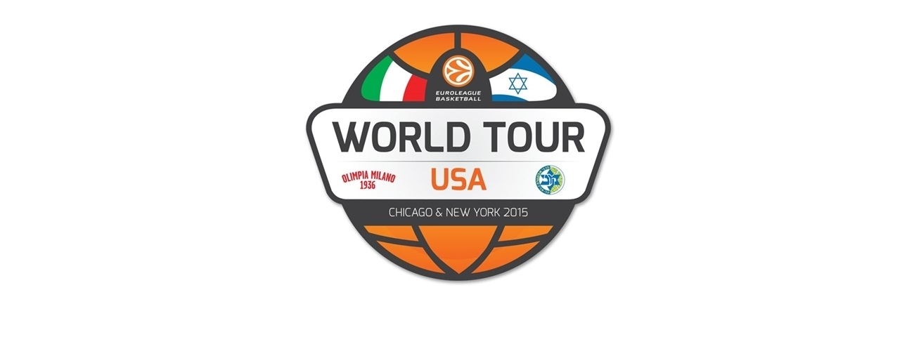 """6 time European Champions Maccabi Tel Aviv and 3 time European Champions EA7 Emporio Armani Milan To Play First """"Euro Classic"""" Games in U.S."""