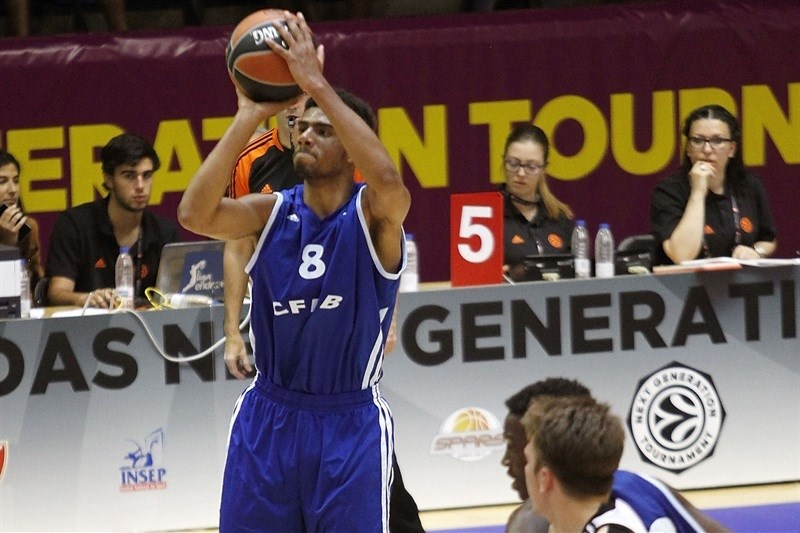 Bathiste Tchouaffe - U18 INSEP Paris - ANGT Final Four Madrid 2015 - JT14