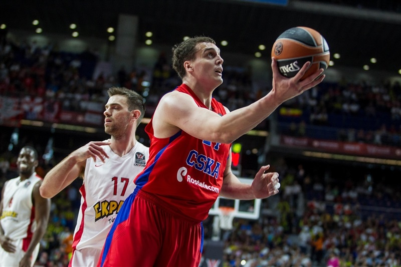 Sasha Kaun - CSKA Moscow - Final Four Madrid 2015 - EB14