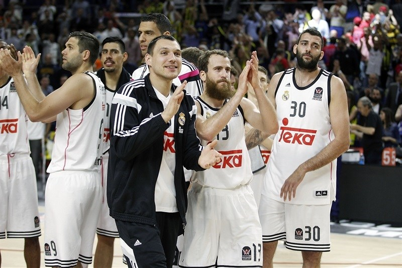 Real Madrid celebrates - Final Four Madrid 2015 - EB14