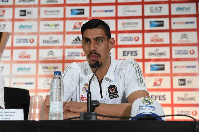 Gustavo Ayon - Real Madrid - Championship Game Press Conference - Final Four Madrid 2015 - EB14