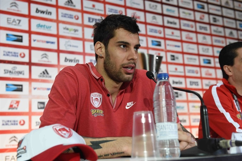 Georgios Printezis - Olympiacos Piraeus - Championship Game Press Conference - Final Four Madrid 2015 - EB14