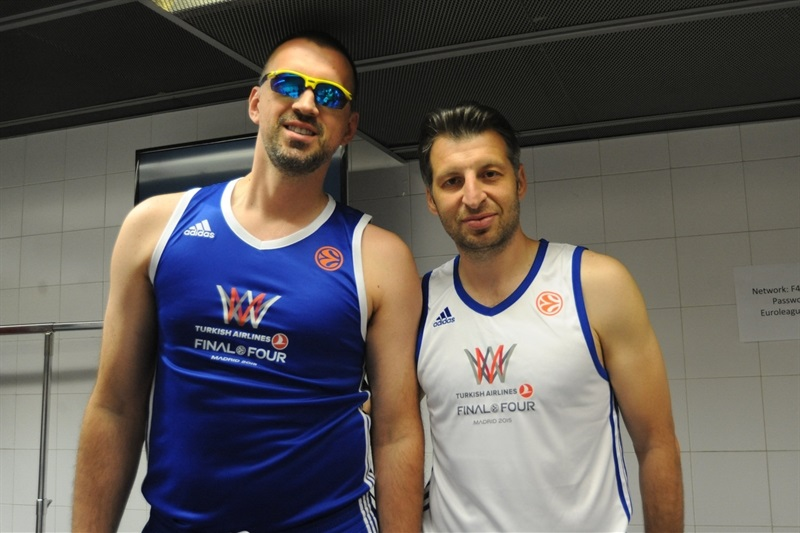 Nikola Vujcic and Theo Papaloukas - Media Game - Final Four Madrid 2015 - EB14