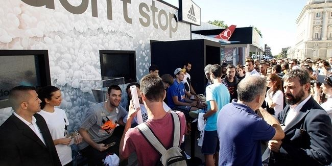 120,000 basketball lovers have already visited Fanzone in Madrid!