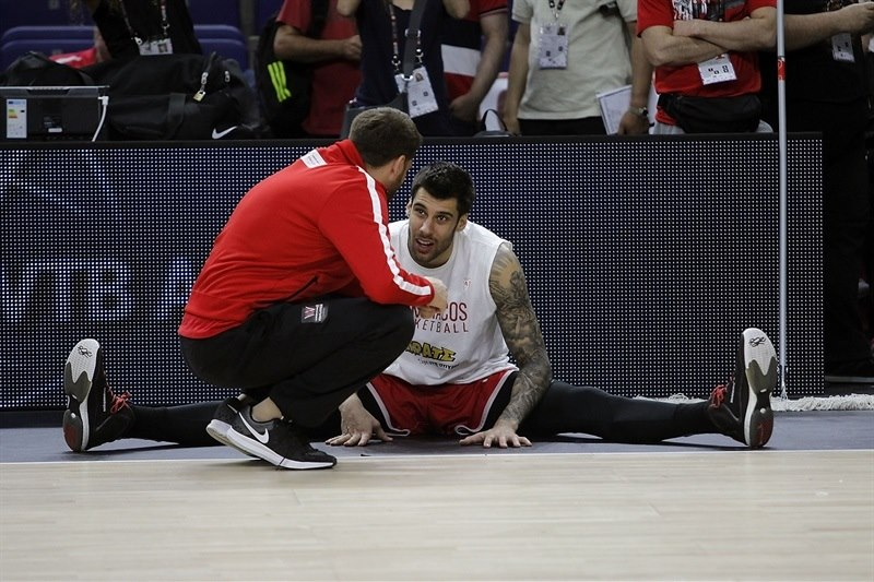 Georgios Printezis - Olympiacos Piraeus practices - Final Four Madrid 2015 - EB14