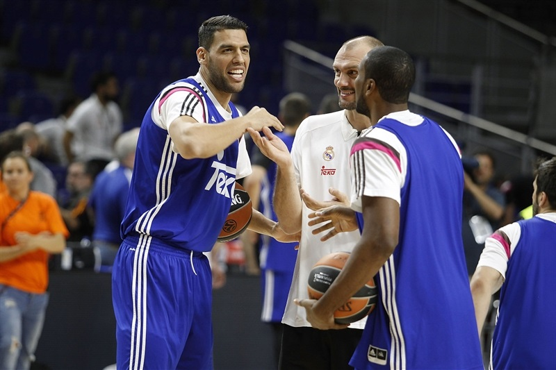 Salah Mejri - Real Madrid practices - Final Four Madrid 2015 - EB14