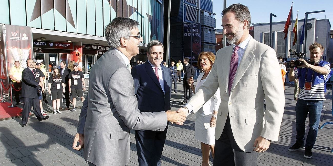 His Majesty the King of Spain attends championship game