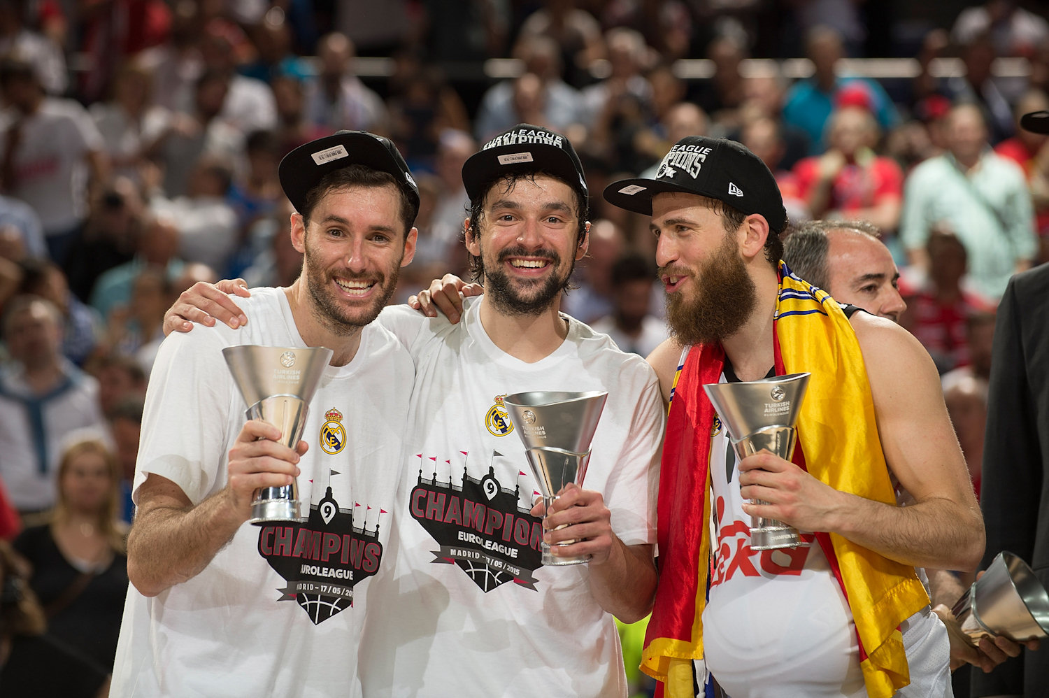 Fernandez, Llull and Rodriguez - Real Madrid champ Euroleague 2014-15 - Final Four Madrid 2015 - EB14