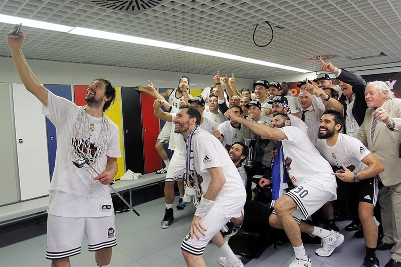 Sergio Llull, Selfie champions - Real Madrid is the new champ Euroleague 2014-15 - Final Four Madrid 2015 - EB14