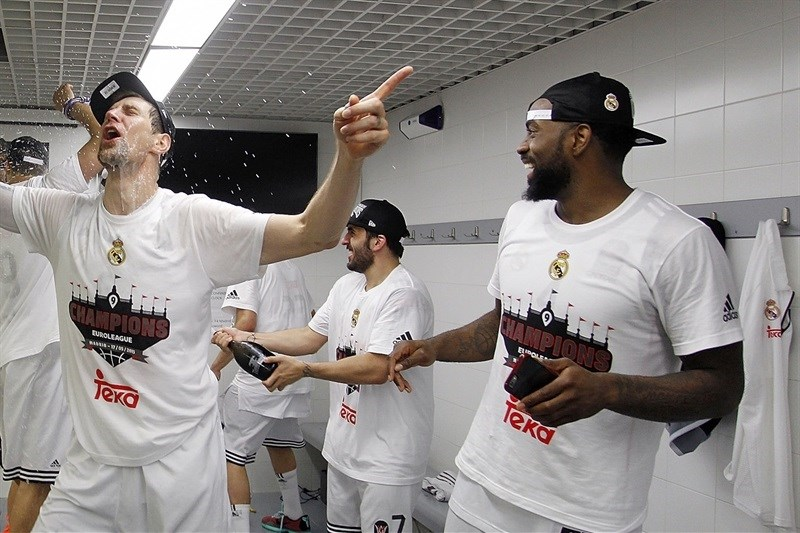 KC Rivers celebrates - Real Madrid is the new champ Euroleague 2014-15 - Final Four Madrid 2015 - EB14
