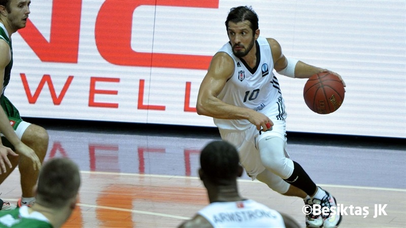 Kerem Tunceri - Besiktas Integral Forex vs. Union Olimpija - EC14 (photo Besiktas)