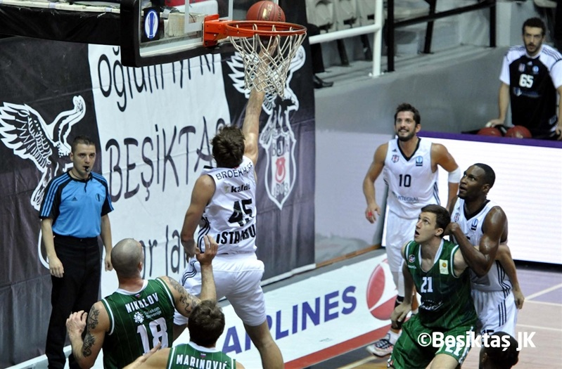 Ryan Broekhoff - Besiktas Integral Forex vs. Union Olimpija - EC14 (photo Besiktas)