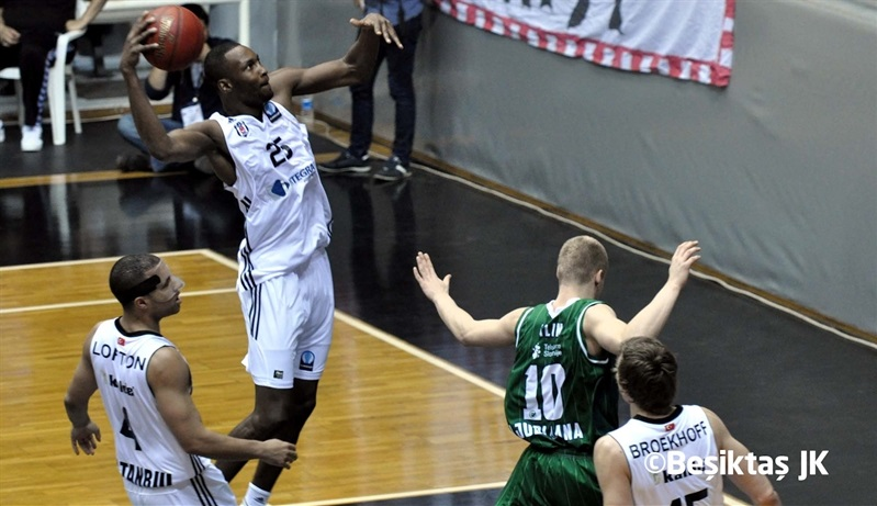 Jajuan Johnson - Besiktas Integral Forex vs. Union Olimpija - EC14 (photo Besiktas)