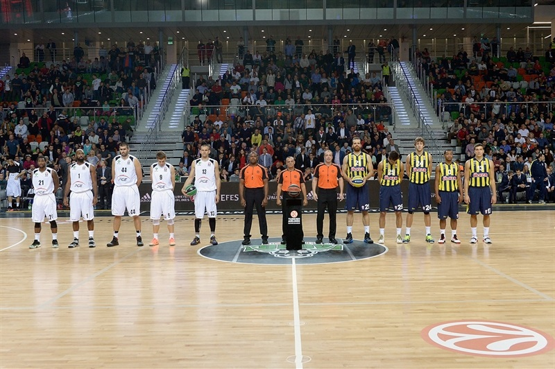 ceremony of intercharge of balls - PGE Turow vs. Fenerbahce Ulker - EB14