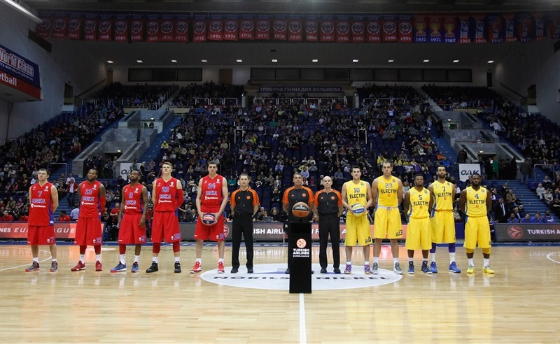 Ceremony of intercharge of balls  - CSKA Moscow vs. Maccabi Electra - EB14