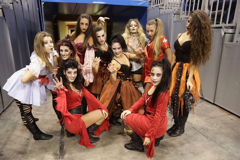 Cheerleaders in Halloween - Unicaja Malaga - EB14