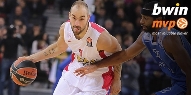 bwin MVP for October: Vassilis Spanoulis, Olympiacos Piraeus