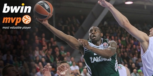 Regular Season Round 4 bwin MVP: James Anderson, Zalgiris Kaunas