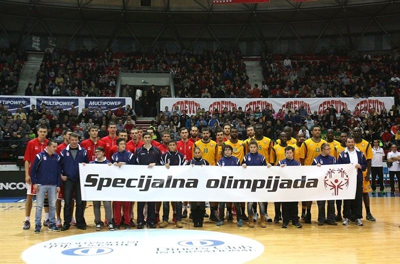 Players Cedevita Zagreb and Limoges CSP with Special Olympics - One Team - EB14