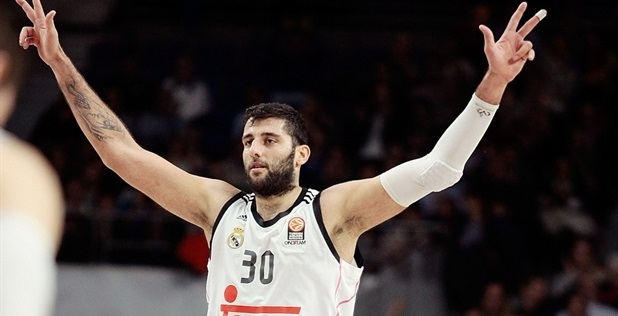 Ioannis Bourousis celebrates - Real Madrid - EB14